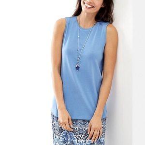 J.Jill Perfect Pima Shirttail Sleeveless Tee NWOT